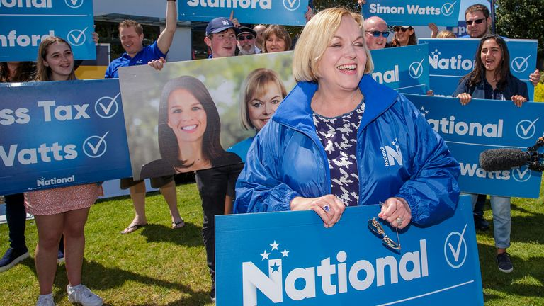 Judith Collins is the leader of the National Party