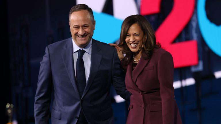 Senator Kamala Harris and her husband Douglas Emhoff
