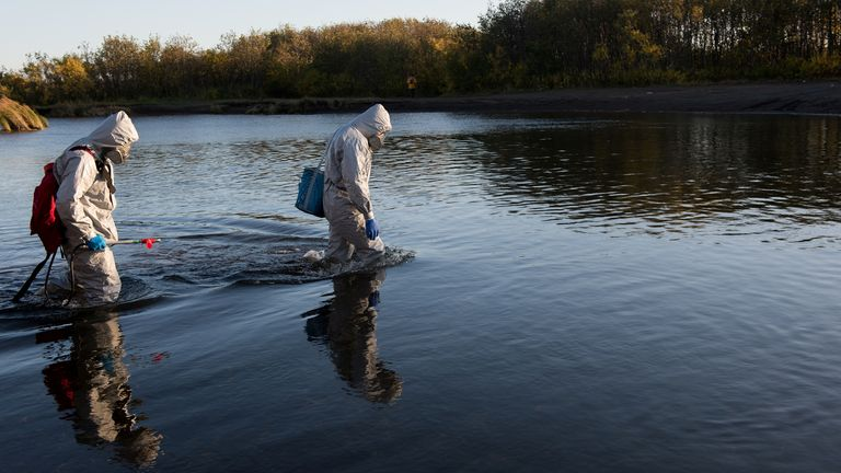 Greenpeace collected samples from the region to try to find the cause