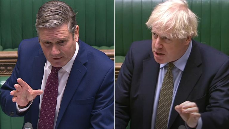 Sir Keir Starmer and Boris Johnson