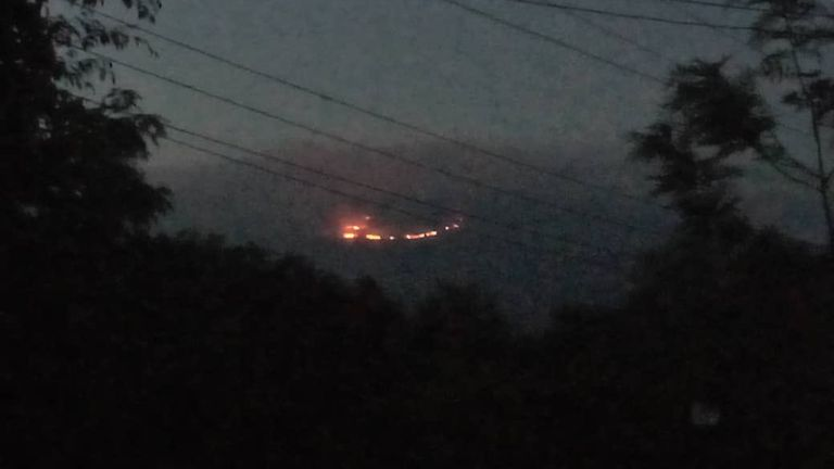 Fire breaks out on Mount Kilimanjaro. Pic: @TZParks / Tanaznia National Park