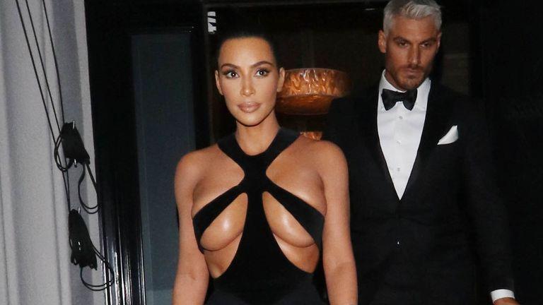 Kim Kardashian seen on February 17, 2019 in Los Angeles