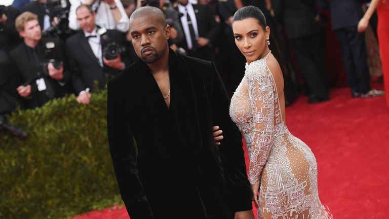 Kim Kardashian and Kanye West attends the China: Through The Looking Glass Costume Institute Benefit Gala at the Metropolitan Museum of Art on May 4, 2015 in New York City