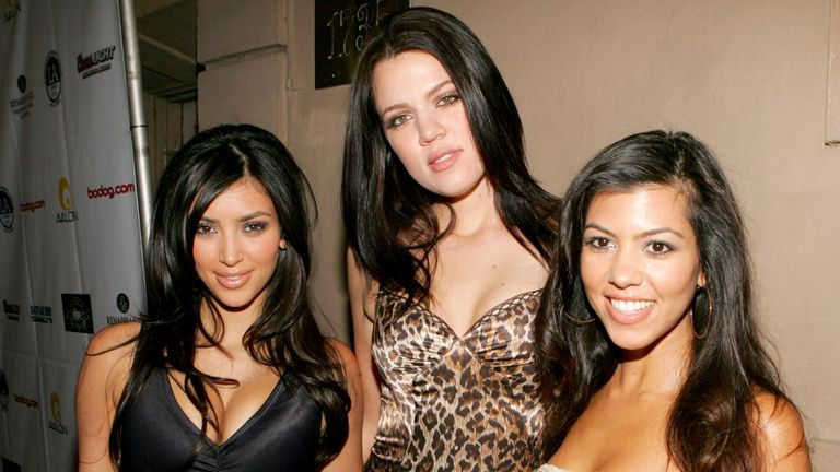 Kim, Khloe and Kourtney Kardashian in 2006