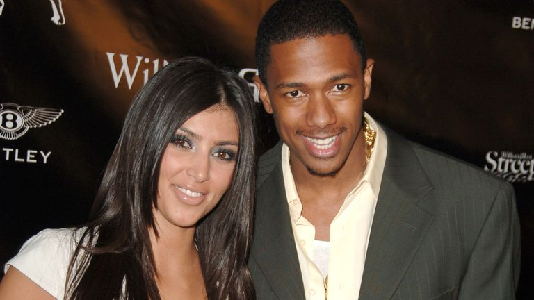 "Kim Kardashian and Nick Cannon during William Rast Presents ""Street Sexy"" Spring Summer 07 - Arrivals at Social Hollywood in Los Angeles, California 2006"