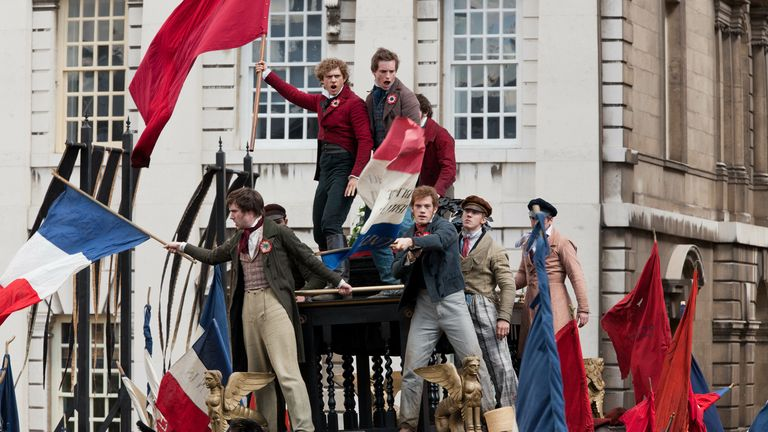 Les Miserables (2012)..Featuring Eddie Redmayne as Marius.... Universal Pictures