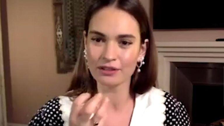 Actress Lily James