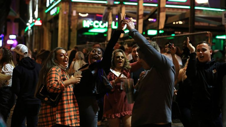 People in Liverpool were out on the town ahead on Saturday night as measures are expected to be tightened