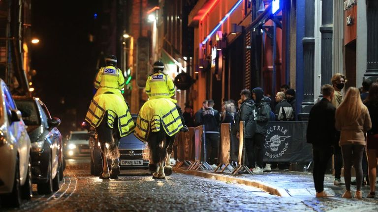 Police on patrol in Liverpool city centre