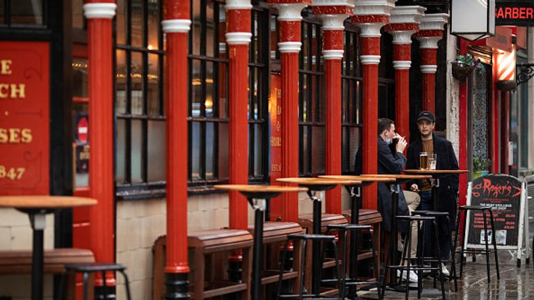 A pub in London's Soho now under Tier 2 restrictions