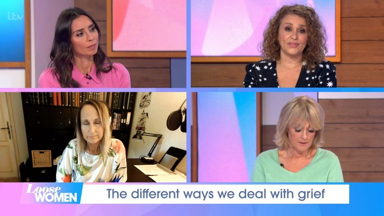 Loose Women panellists discussed Chrissy Teigen's baby loss on the show on 1 October. Pic: ITV