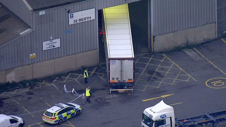 Essex Police - Aerials of Lorry