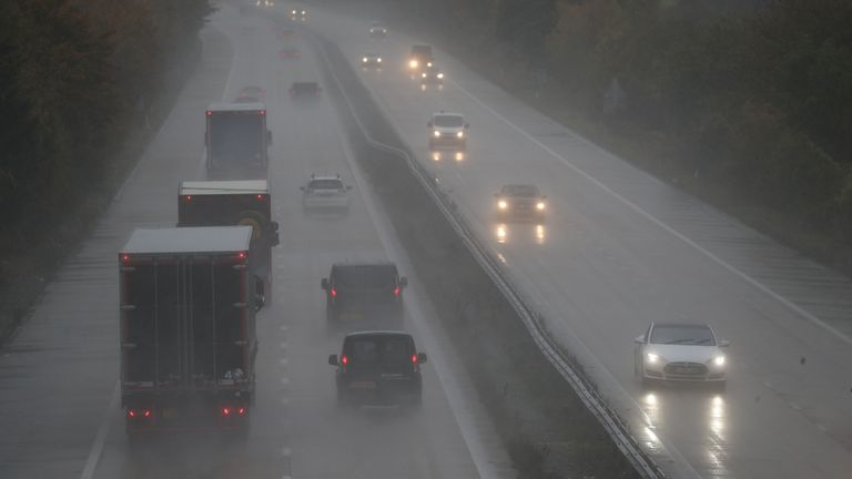Motorists could face poor driving conditions on the country's roads due to the storm