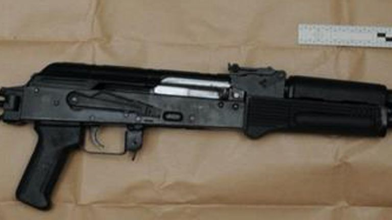 One of the weapons seized after an encrypted global phone network was cracked