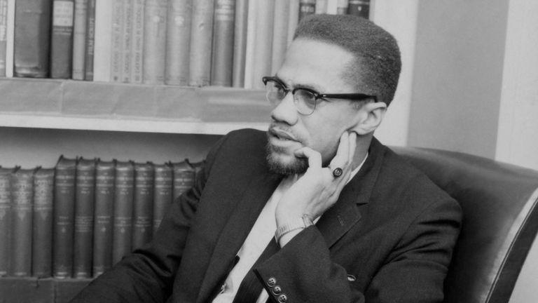 Malcolm X in London in 1964
