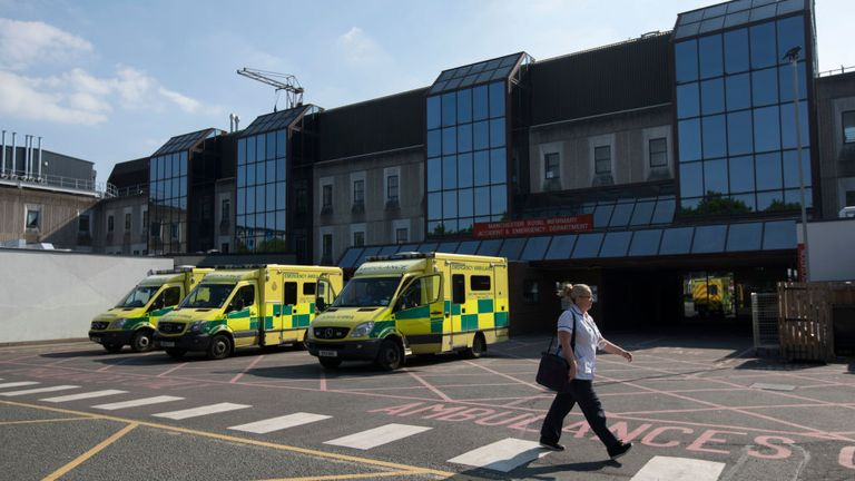 Manchester Royal Infirmary Hospital was at 87% capacity on Friday