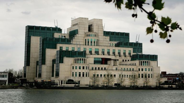 The MI6 headquarters are seen on the River Thames on April 27, 2006 in London, England. An advert published in a London newspaper, specified that MI6 are looking for people with skills in Administration, Technology, Operational Officers, Operation Analysts and Linguists. MI6 is officially called the Secret Intelligence Service. (Photo by Daniel Berehulak/Getty Images)