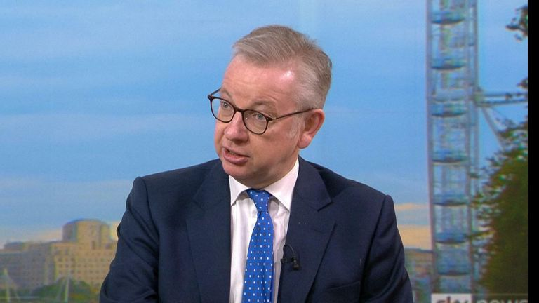 Coronavirus: Michael Gove accuses Greater Manchester mayor Andy Burnham of 'posturing' over COVID rules stand-off | Politics News | Sky News