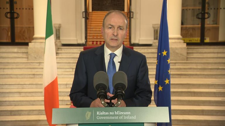 Irish Prime Minister, Micheál Martin confirms the country is moving to level three restrictions nationwide.
