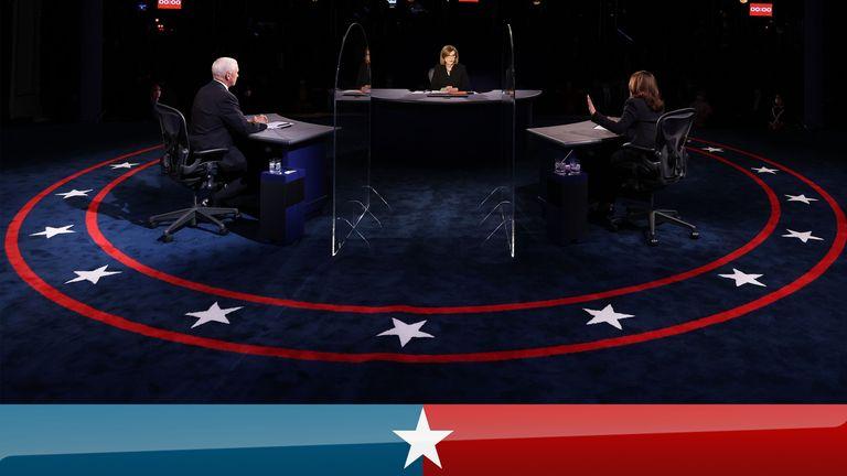 Mike Pence and Kamala Harris
