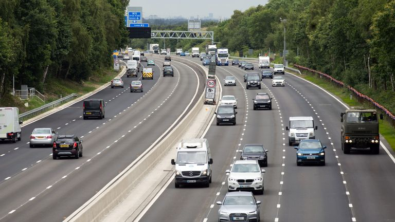 More than half of UK motorists are confused about smart motorways, such as this stretch of the M3 in Surrey