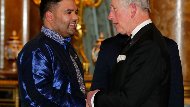 Naughty Boy with Prince Charles