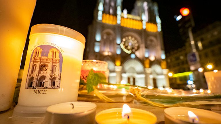 A vigil was held outside the Notre Dame Basilica