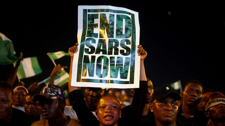 Nigerians are marching against a unit of the Nigerian police called SARS