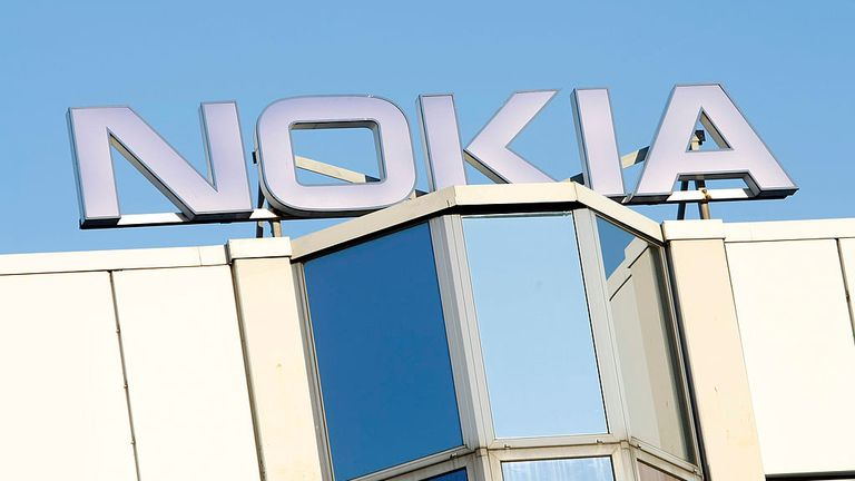 BOCHUM, GERMANY - FEBRUARY 10: The logo of the Nokia plant is pictured on February 10, 2008 in Bochum Germany. Mobile telephone giant Nokia plans to close it's factory in Bochum laying off approx. 2,300 employees citing rising labor costs. (Photo by Jens Koch/Getty Images)