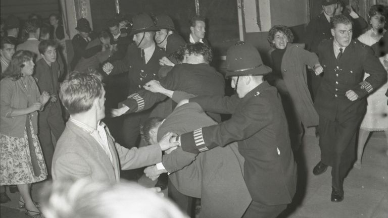 The 1958 race riots in Notting Hill, west London