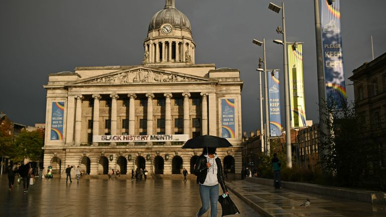 Nottingham has the highest rate of new cases in England