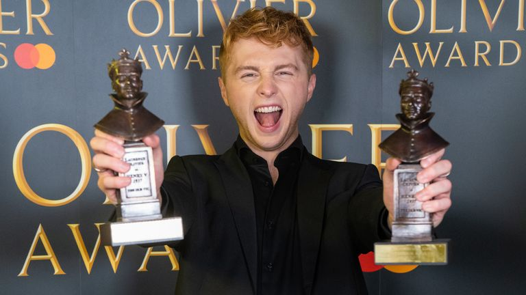 Sam Tutty won for his role in Dear Evan Hanson