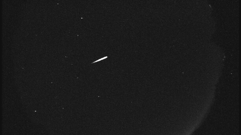 A glimpse of an Orionid meteor captured by NASA in 2015