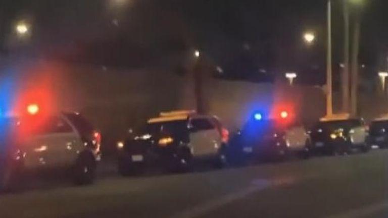 Massive police presence in Paramount Studios
