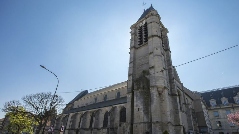 The Saint-cyr and Sainte-julitte Church, one of the two churches allegedly targeted by Sid Ahmed Ghlam