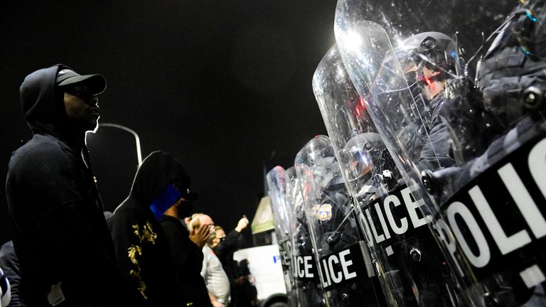 Protesters confront police on the second night of demonstrations