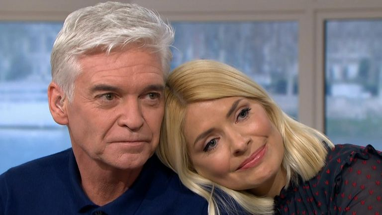 TV presenter Phillip Schofield with his friend and This Morning co-host Holly Willoughby