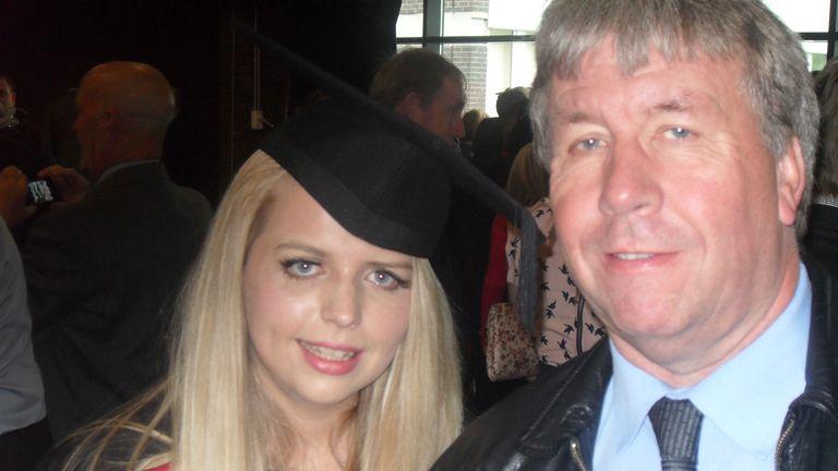ALAN MACK WITH HIS DAUGHTER REBECCA.