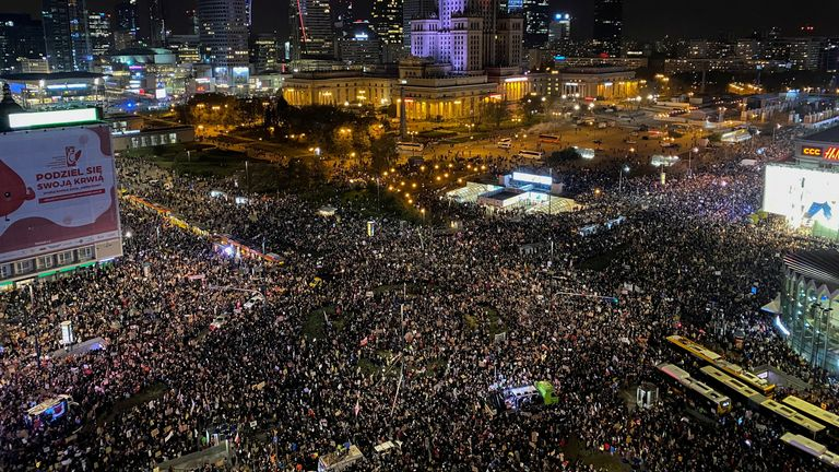 Warsaw abortion protests