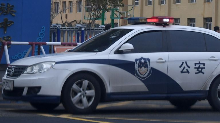Police car in China. File pic