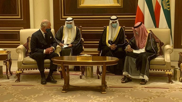 Prince Charles visits Kuwait following the death of the country's leader