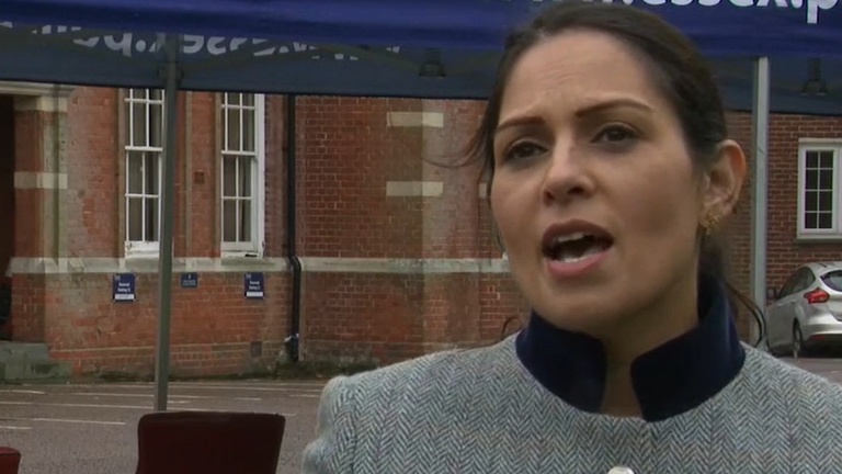Home Secretary Priti Patel said 'we can rule nothing out' over further COVID-19 restrictions.