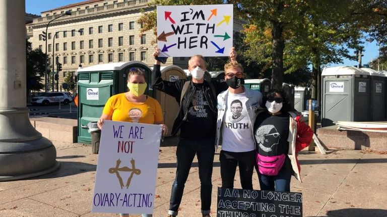 Women's protest in Washington DC
