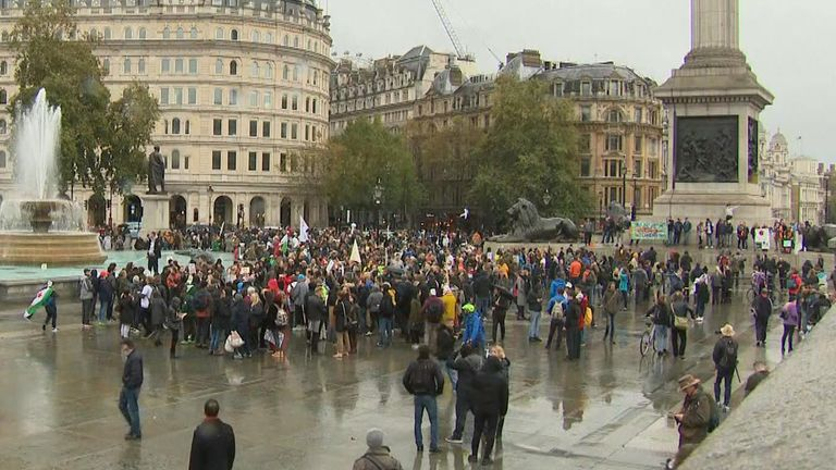 Hundreds attend anti-lockdown protest in London