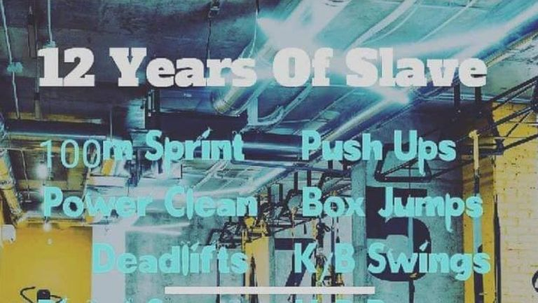 PureGym Luton advertises '12 Years of Slave' workout Pic: Facebook