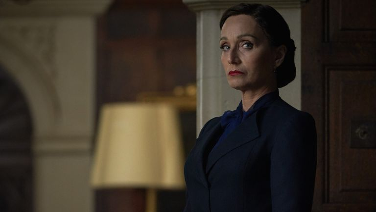 Kristin Scott Thomas as Mrs Danvers in Rebecca. Pic: Kerry Brown/ Netflix