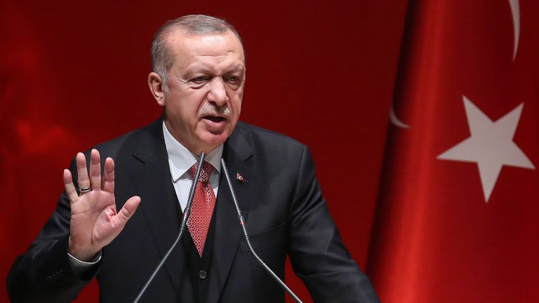 The Turkish President said Mr Macron 'needs treatment on a mental level'