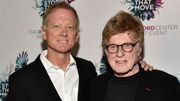 James Redford (L) and Robert Redford attend The Redford Center's Benefit at August Hall on December 6, 2018 in San Francisco, California