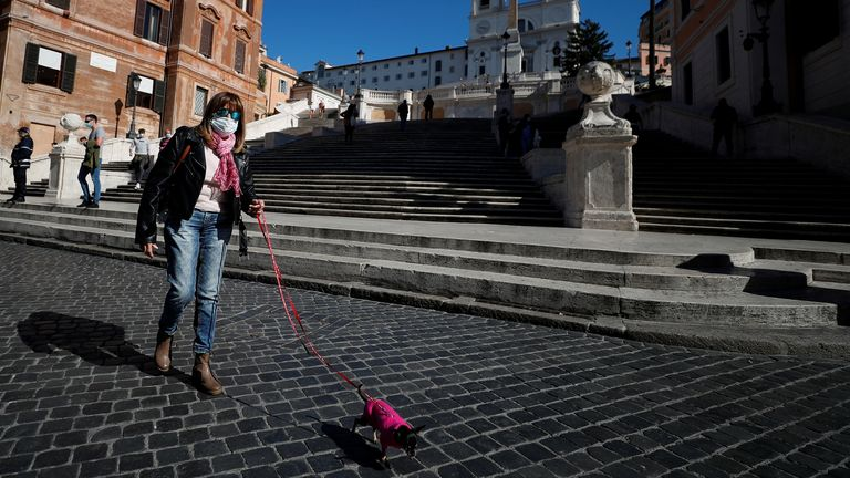 People in Rome are having to follow new restrictions which have been introduced across Italy