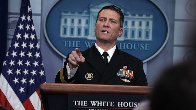 Dr Ronny Jackson gave Donald Trump a glowing medical report